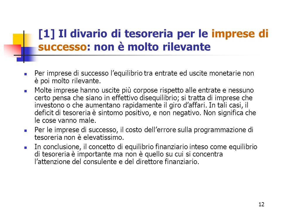 [1] Il divario di tesoreria per le imprese di successo: non è molto rilevante